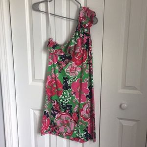 One Shoulder Lilly Pulitzer Dress